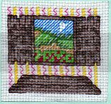 Morning Window Scenery Cross Stitch Picture